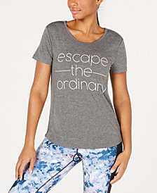 Ideology Escape the Ordinary Graphic V-Back T-Shirt, Created for Macy's