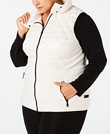 Calvin Klein Performance Plus Size Quilted Metallic Down Vest