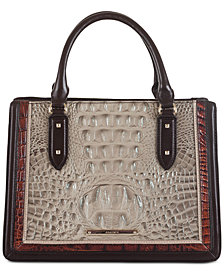 Brahmin Camille Embossed Leather Tote