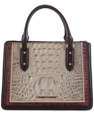 Image of Brahmin Camille Hemlock Westwood Leather Satchel