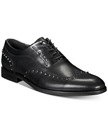 I.N.C. Men's Ozzie Studded Wingtip Oxfords, Created for Macy's