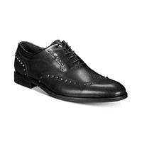 INC International Concepts Men's Ozzie Studded Wingtip Oxfords (Black)