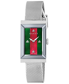 Women's Swiss G-Frame Stainless Steel Mesh Bracelet Watch 21x34mm