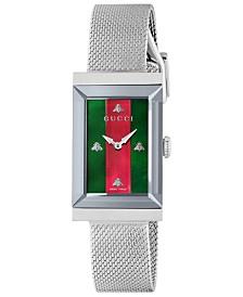 Gucci Women's Swiss G-Frame Stainless Steel Mesh Bracelet Watch 21x34mm