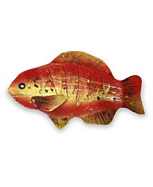"18"" Red Fish Plate"