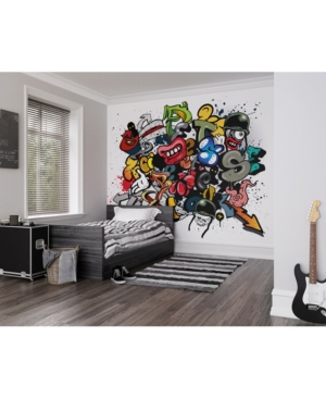 An edgy and modern addition to your home decor. This mural will make it seem like graffiti art is spray-painted directly onto your wall. Measures 9ft 10in x 7ft 10in when assembled.