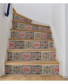 Iznik Tile Stair Stripe Decal