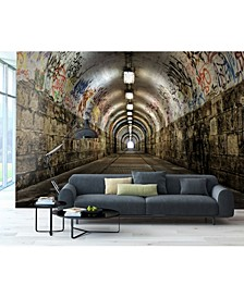 Graffiti Tunnel Wall Mural