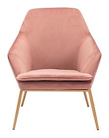 Debonair Arm Chair Pink Velvet