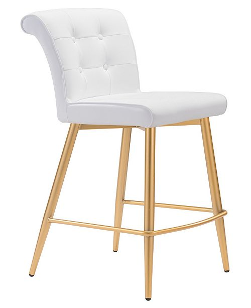 Zuo Niles Counter Chair White