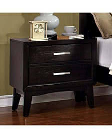 Contemporary Style Night Stand, Espresso Finish