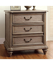 Transitional Style Night Stand, Rustic Natural