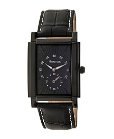 Heritor Automatic Frederick Black Leather Watches 32mm