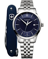 fcfc80780c8 Victorinox Swiss Army Men s Swiss Alliance Stainless Steel Bracelet Watch  40mm Box Set