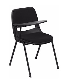 Offex Padded Ergonomic Shell Chair with Right Handed Flip-Up Tablet Arm