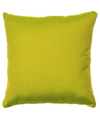 Outdoor Sunbrella Fabric Throw Pillow, Outdoor Square 17