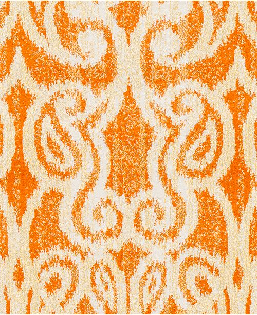 "Surya CLOSEOUT! Aberdine ABE-8020 Bright Orange 18"" Square Swatch"