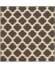 "Surya Alfresco ALF-9584 Black 8'9"" Square Area Rug"