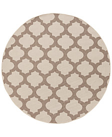 "Surya Alfresco ALF-9586 Cream 7'3"" Round Area Rug"