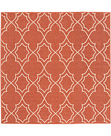 "Surya Alfresco ALF-9591 Rust 7'3"" Square Area Rug"