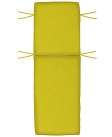 "Outdoor Sunbrella Fabric Seat Cushion, Outdoor Chaise 72"" x 22"" x 3.5"", Quick Ship"