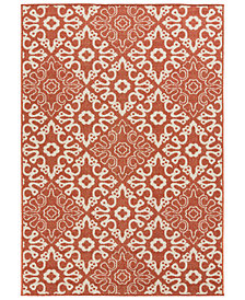 "Surya Alfresco ALF-9636 Rust 3' x 5'6"" Area Rug"