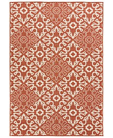 "Surya Alfresco ALF-9636 Rust 2'3"" x 4'6"" Area Rug, Indoor/Outdoor"