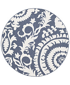 "Surya Alfresco ALF-9658 Charcoal 5'3"" Round Area Rug"