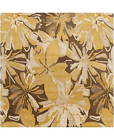 CLOSEOUT! Surya  Athena ATH-5115 Tan 6' Square Area Rug