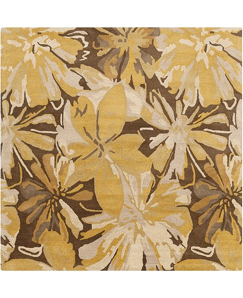 Surya CLOSEOUT!  Athena ATH-5115 Tan 6' Square Area Rug