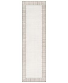 """Surya Alfresco ALF-9681 Taupe 2'3"""" x 7'9"""" Runner Area Rug, Indoor/Outdoor"""