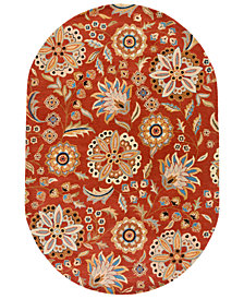 Surya Athena ATH-5126 Burnt Orange 8' x 10' Oval Area Rug