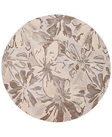 Surya Athena ATH-5148 Light Gray 4' Round Area Rug