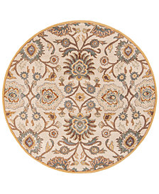 Surya Caesar CAE-1012 Medium Gray 4' Round Area Rug