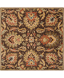 Surya Caesar CAE-1028 Dark Brown 4' Square Area Rug