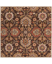 Surya Caesar CAE-1051 Dark Brown 4' Square Area Rug