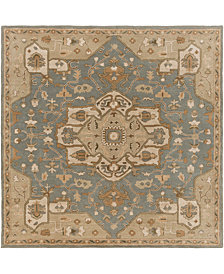Surya Caesar CAE-1144 Medium Gray 4' Square Area Rug
