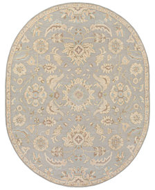 Surya Caesar CAE-1162 Light Gray 8' x 10' Oval Area Rug