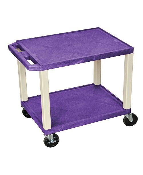 "Clickhere2shop 26"" H Tuffy AV Cart with 2 Shelves - Putty Legs"