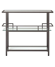 Piloti Bar Table - Pewter/Clear Glass