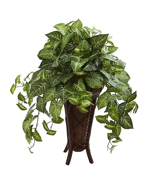Nearly Natural Nephthytis Artificial Plant in Stand Planter