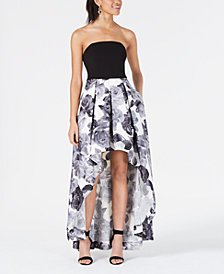 Speechless Juniors' Strapless High-Low Gown