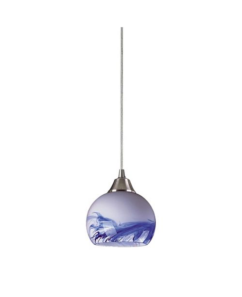 ELK Lighting Mela Collection 1 Light Pendant in Mountain