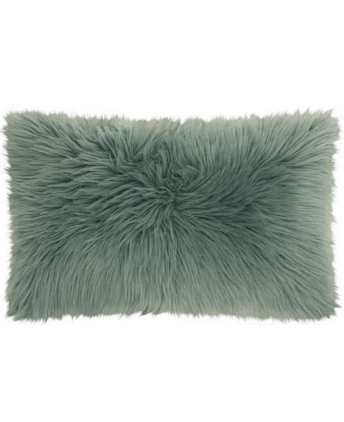 Nourison Mina Victory Fur Remen Poly Faux Fur Decorative Pillow