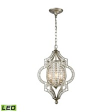 Gabrielle 3 Light Chandelier in Aged Silver