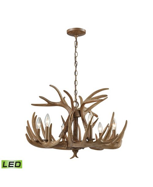 ELK Lighting ELK 6 Light Chandelier in Wood Brown
