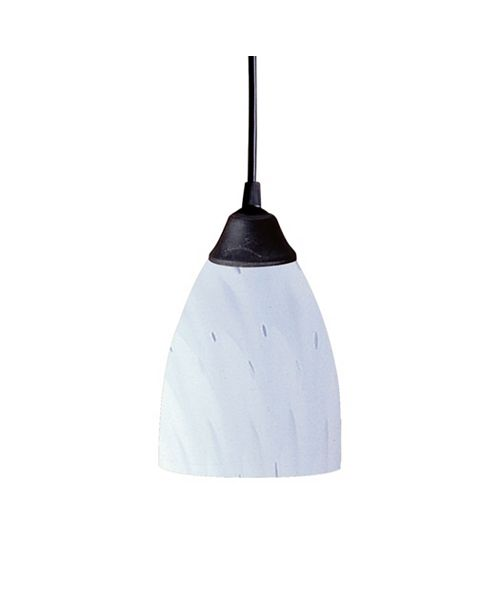 ELK Lighting Classico Collection 'Simply White' 1 Lt Pend
