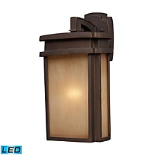 1 Light Outdoor Sconce in Clay Bronze - LED Offering Up To 800 Lumens (60 Watt Equivalent) with Full