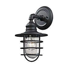 Vandon 1 Light Outdoor Wall Sconce in Charcoal