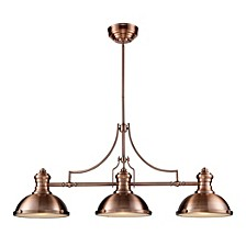 Chadwick 3-Light Billiard Light in Antique Copper